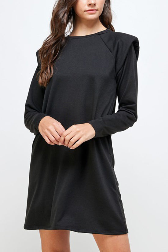 Shoulder Pad Knit Dress