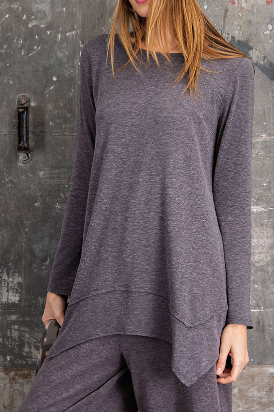 Long Asymmetrical Tunic Top