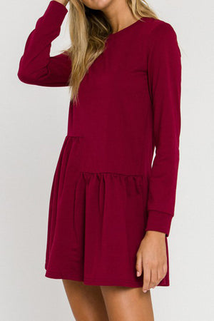 Knit Unbalanced Seam Dress