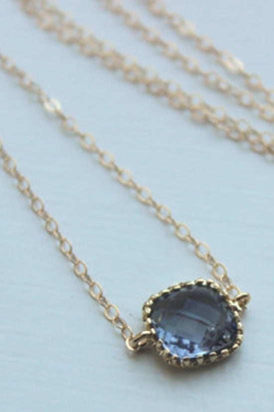 Dainty Charcoal Gray Necklace