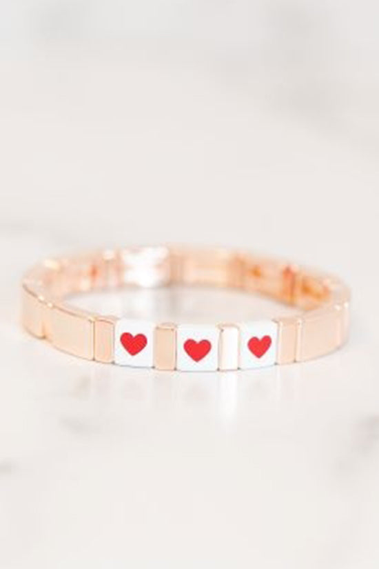 Golden Thread Heart Bracelet