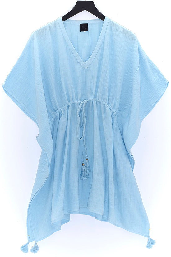Light Blue Double Gauze Cover Up