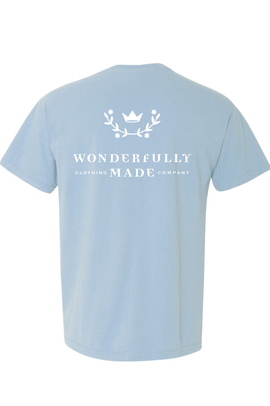 Wonderfully Made Chambray Short Sleeve Comfort Colors Tshirt