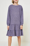 Tween Ruffle Sweatshirt Dress