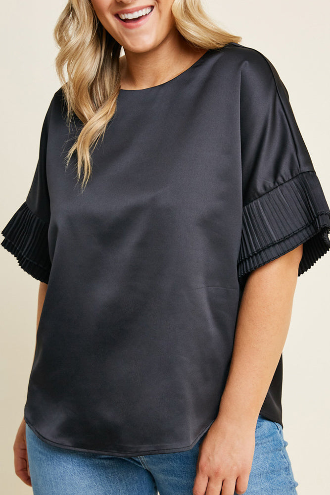 Pleated Tier Sleeve Top