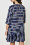 Womens Navy Asymmetrical Dress