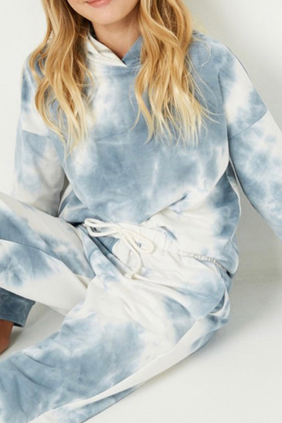 Hayden Girls Tie Dye Hoodie and Jogger Set