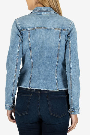 Denim Jacket w/Raw Hem