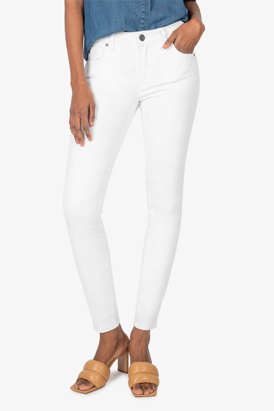 White High Rise Ankle Skinny Jeans