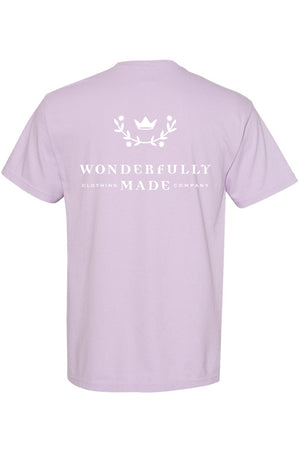 Wonderfully Made Orchid Comfort Colors Short Sleeve TShirt