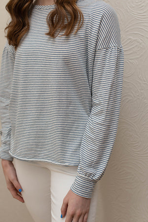 Mododoc Striped Long Sleeve Top