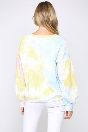 Blue French Terry Tie Dye Sweatshirt