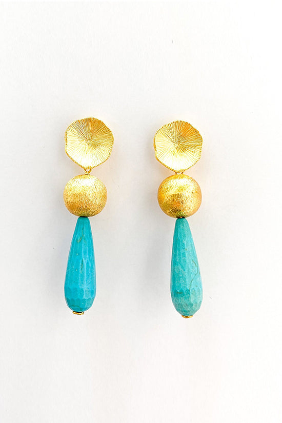 M Donohue Collection Ellie Turquoise Earrings