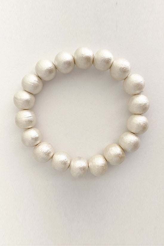 M Donohue Collection Olivia Cotton Pearl Stretch Bracelet