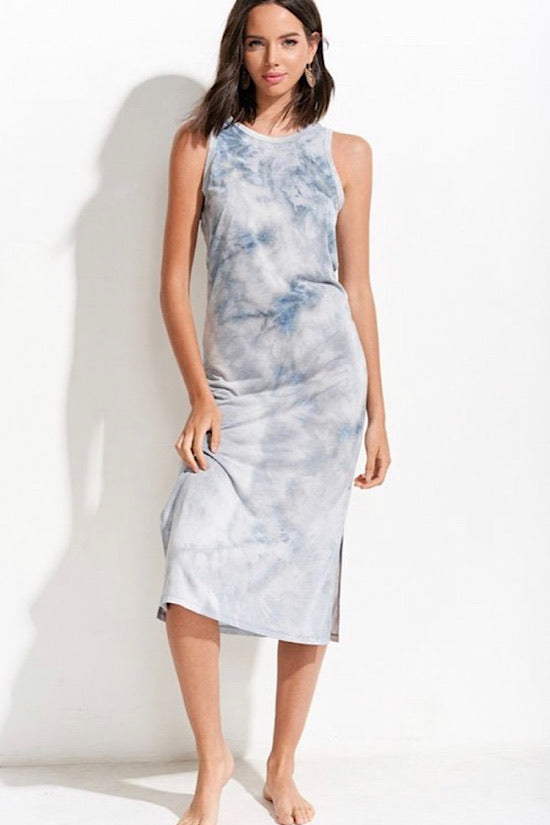 Cloudy Tie Dye Dress