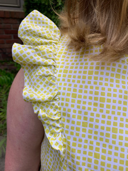 Hannah Spring Dress in Lime