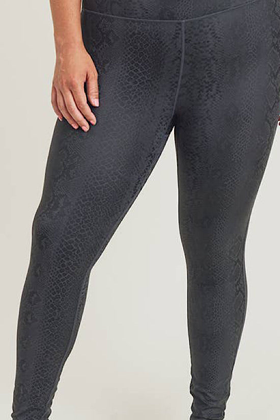 Black Mamba High Waisted Extended Leggings