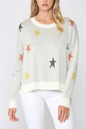 Multicolor Star Sweater