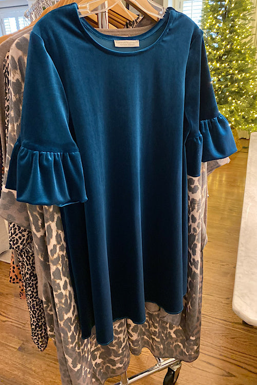 Teal Washable Velveteen Dress/Tunic