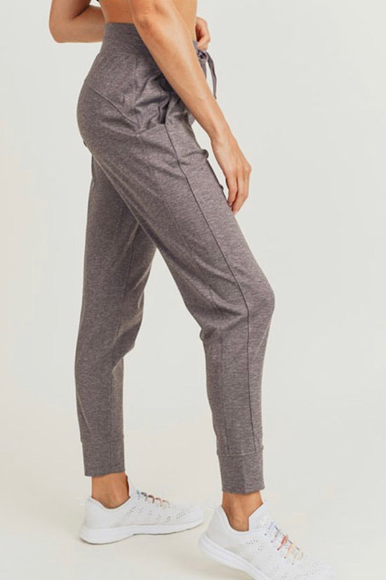 Faded Plum Side Paneled Joggers