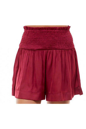 Wine Flowy Shorts