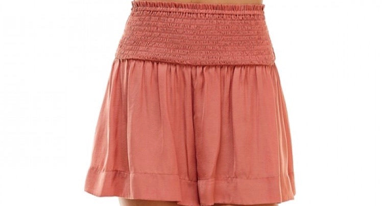 Copper Flowy Shorts