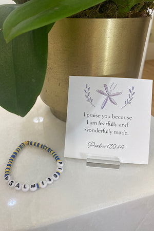 Kid's Psalm 139:14 Bracelet: You are wonderfully made!