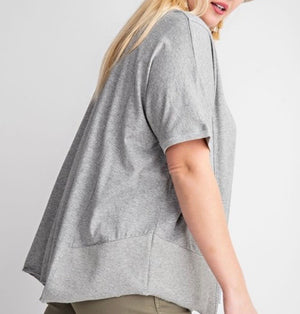 Heather Gray Short Sleeve Top