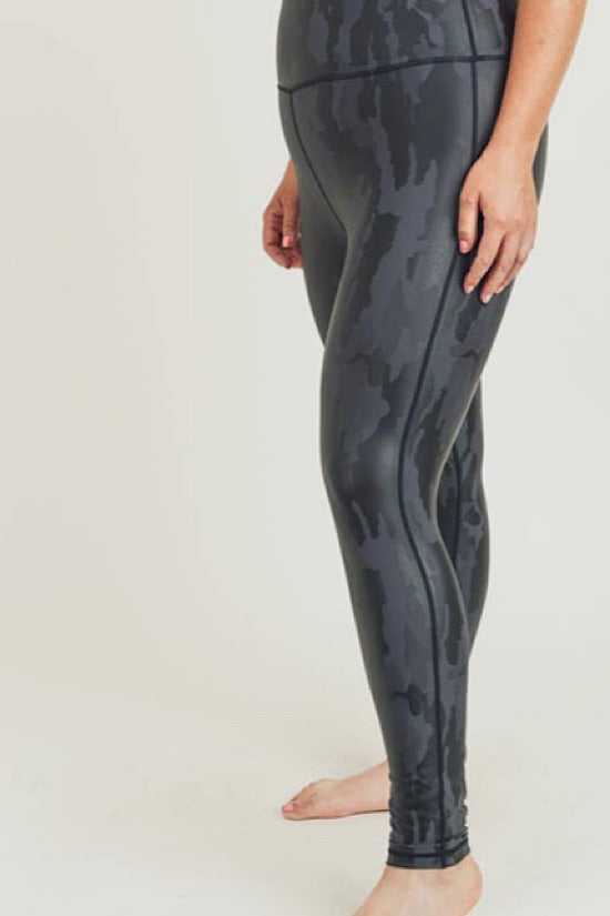 Black Extended Camo Leggings