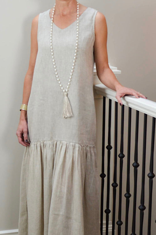 Eve Taupe Linen Dress