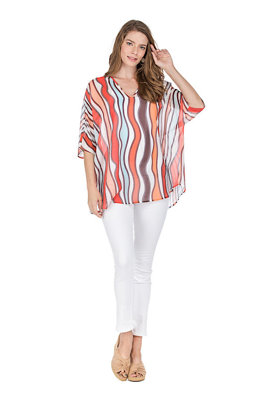 Wavely V-Neck Tunic