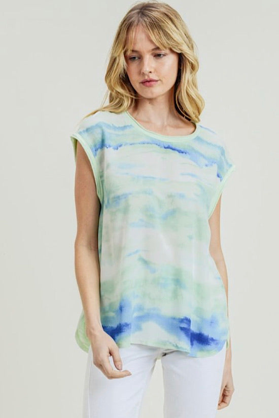 Sea Foam Tie Dye Top