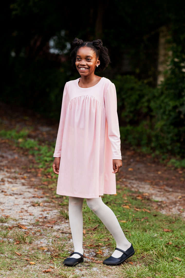Pink Sophie Velveteen Dress
