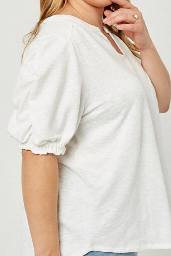 V-Neck Puff Sleeve Top