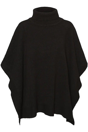 Black One Size Poncho