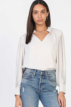 Long Sleeve Taupe Top