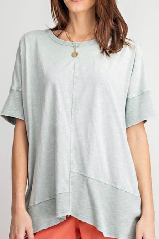 Short Sleeve Mineral Wash Top