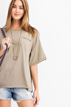 Olive Short Sleeve Top