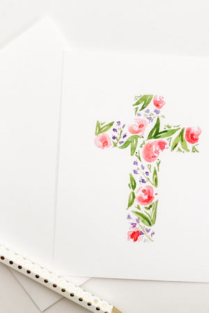 Watercolor Cross Note Cards
