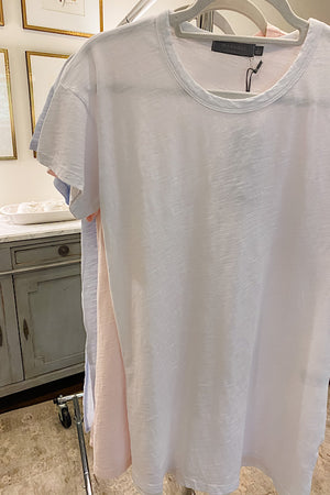 White Tshirt with Gauze Back