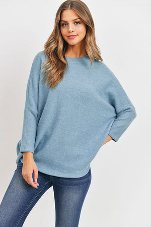 Blue Soft Brushed Tunic