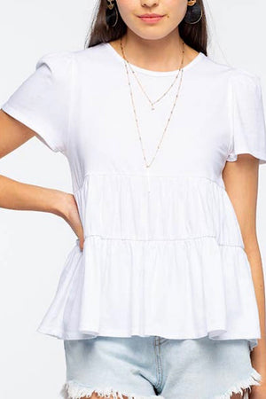 White Baby Doll Tee