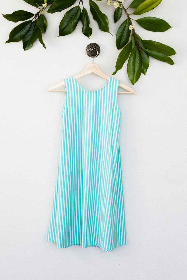 Girls Plus Striped Mint Sophie Dress