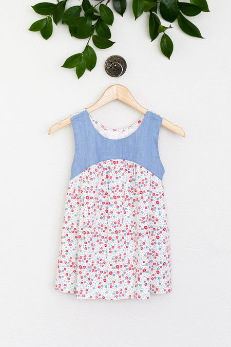 Girls Plus Chambray Ruthie Dress