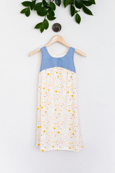 Hannah Dress in Pink/Navy