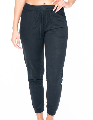 Activewear Black Leggings with Pockets