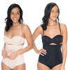2 Pack Tummy control Hi-Waisted Shapewear Comfort Brief Panties For Shape Wear