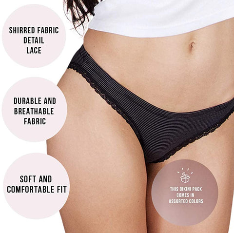Emprella Underwear for Women - Wild Bikini 12 Pack Seamless Ladies Cheeky Panties Set