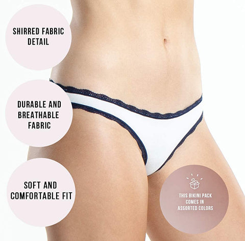 Emprella Womens Underwear Bikini Panties - Colors and Patterns May Vary