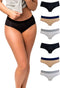 Womens Hipster Underwear Pack Soft Cotton Ladies Panty